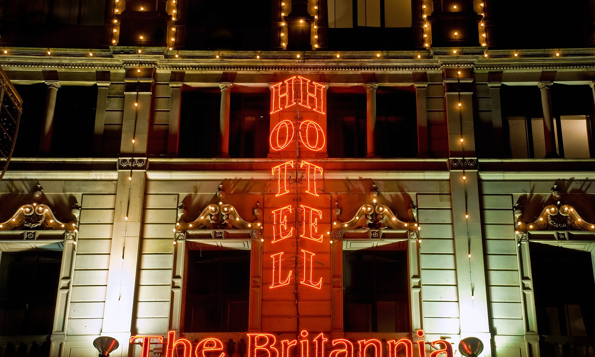 The Royal Britannia Hotel Sign, Manchester