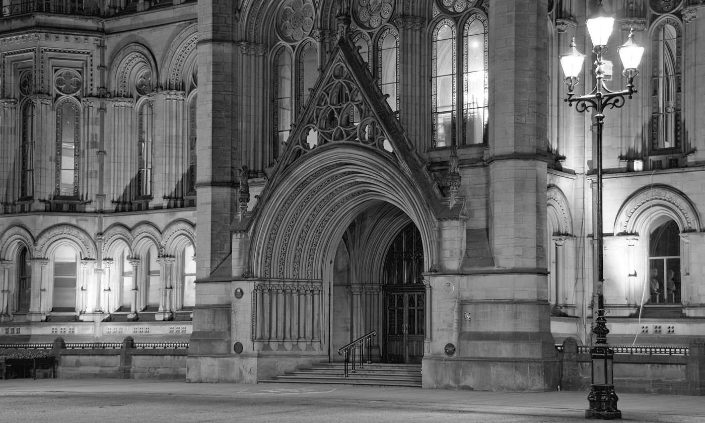 Manchester Town Hall Doorway