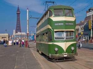 Tram on Blackpool Sea Front