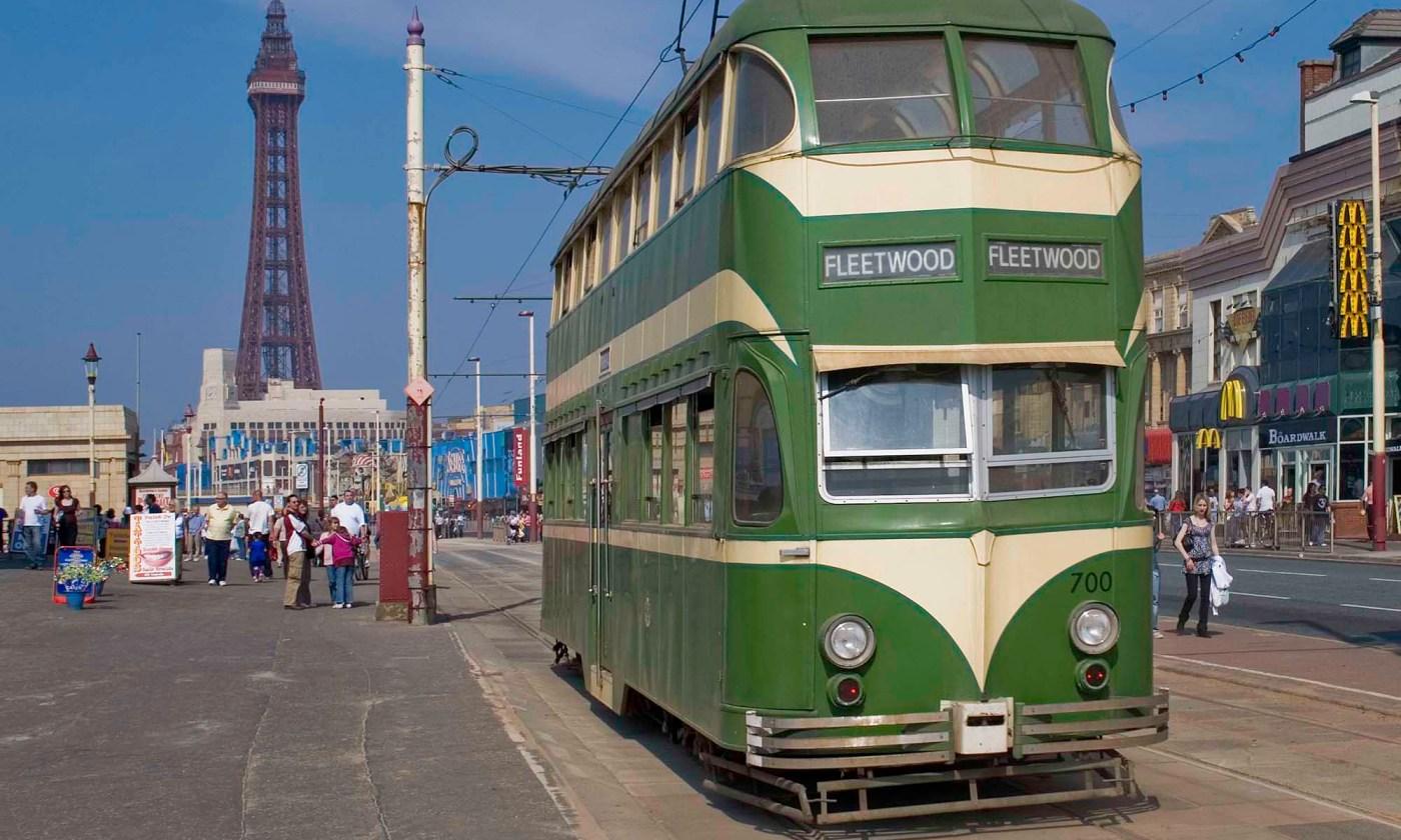 Tram on Blackpool Sea Front
