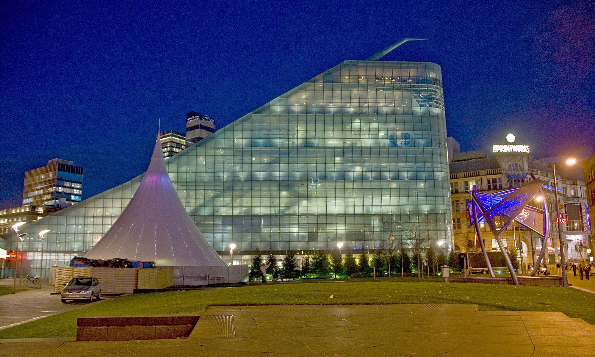 Urbis Exhibition Centre at Night