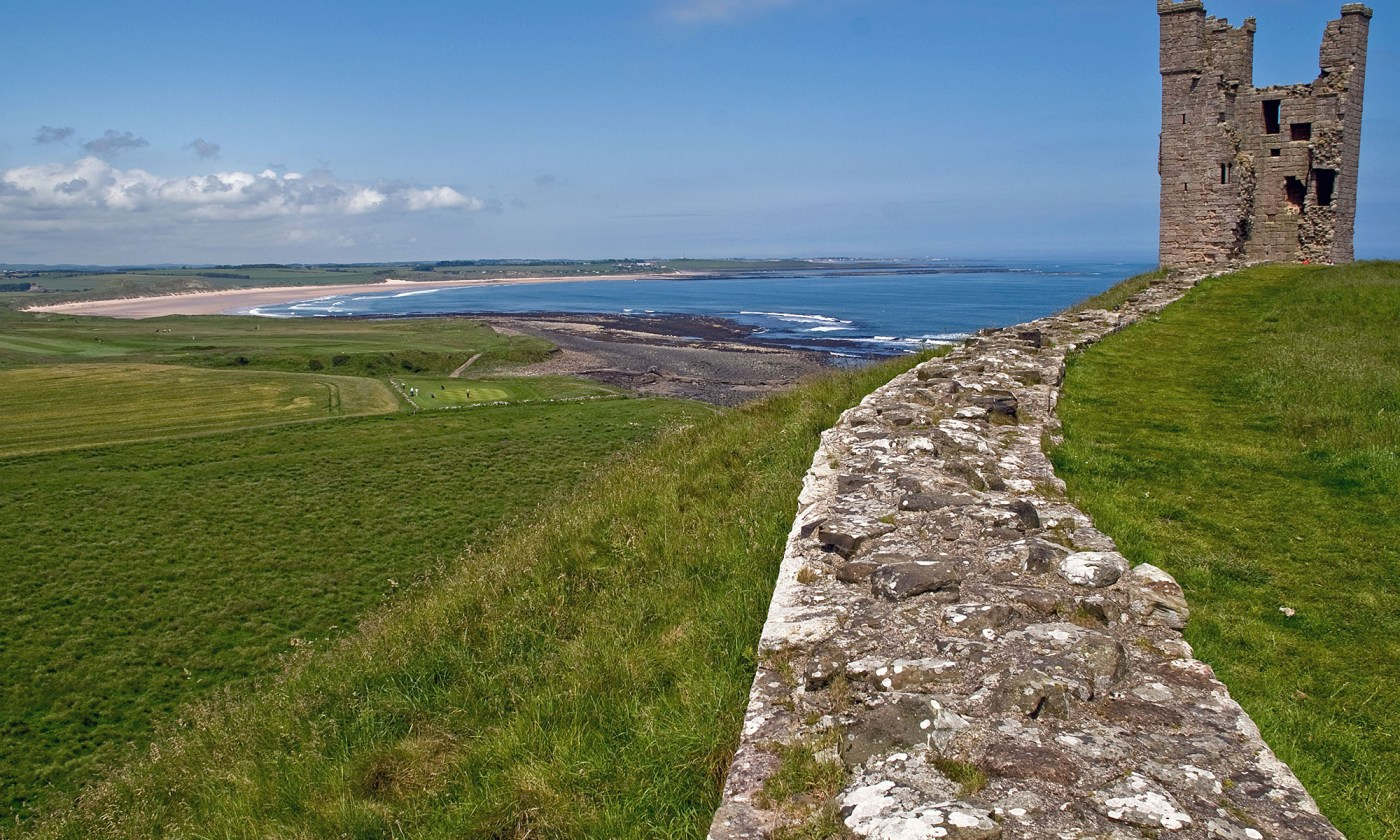 View from north Dunstanburgh Castle