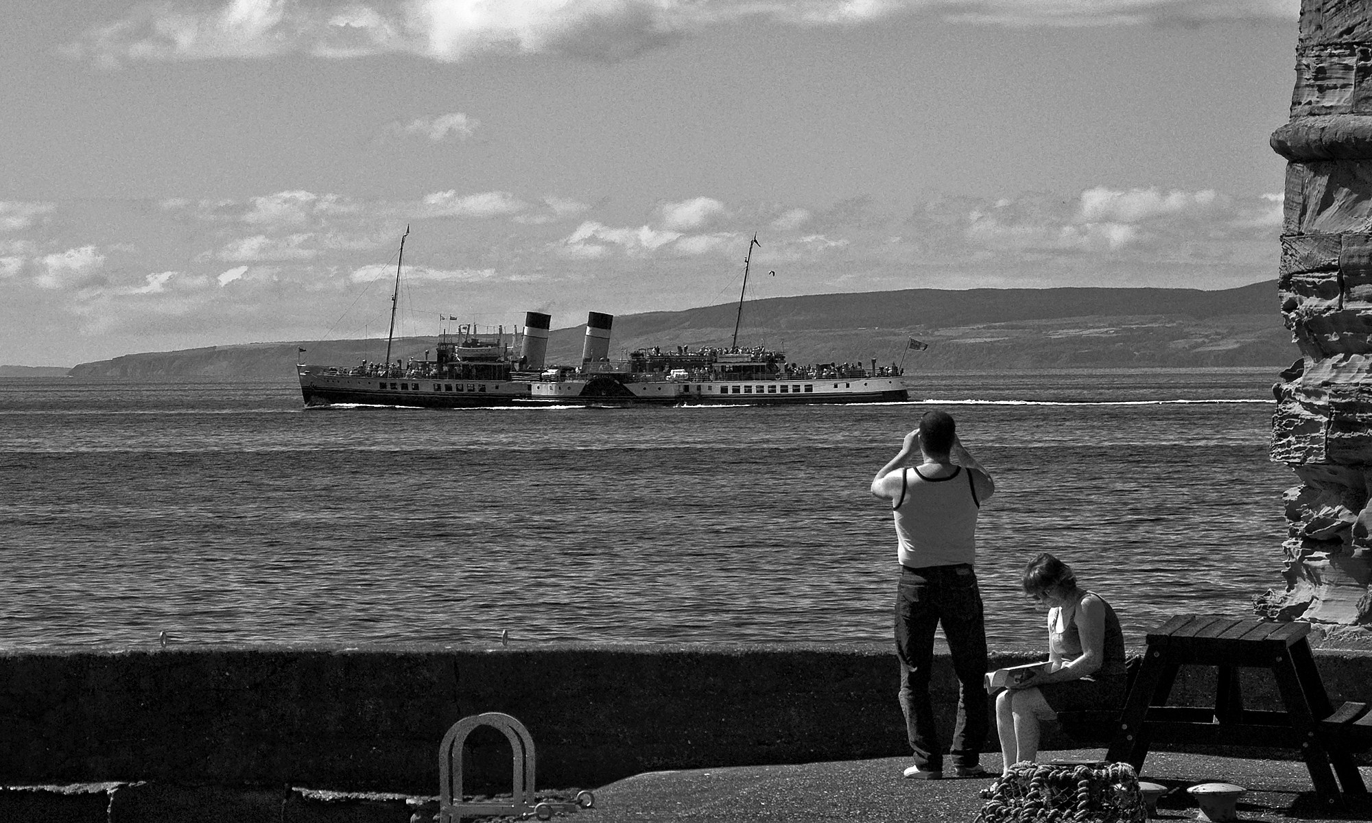 Waverley Paddle Steamer from Dunure