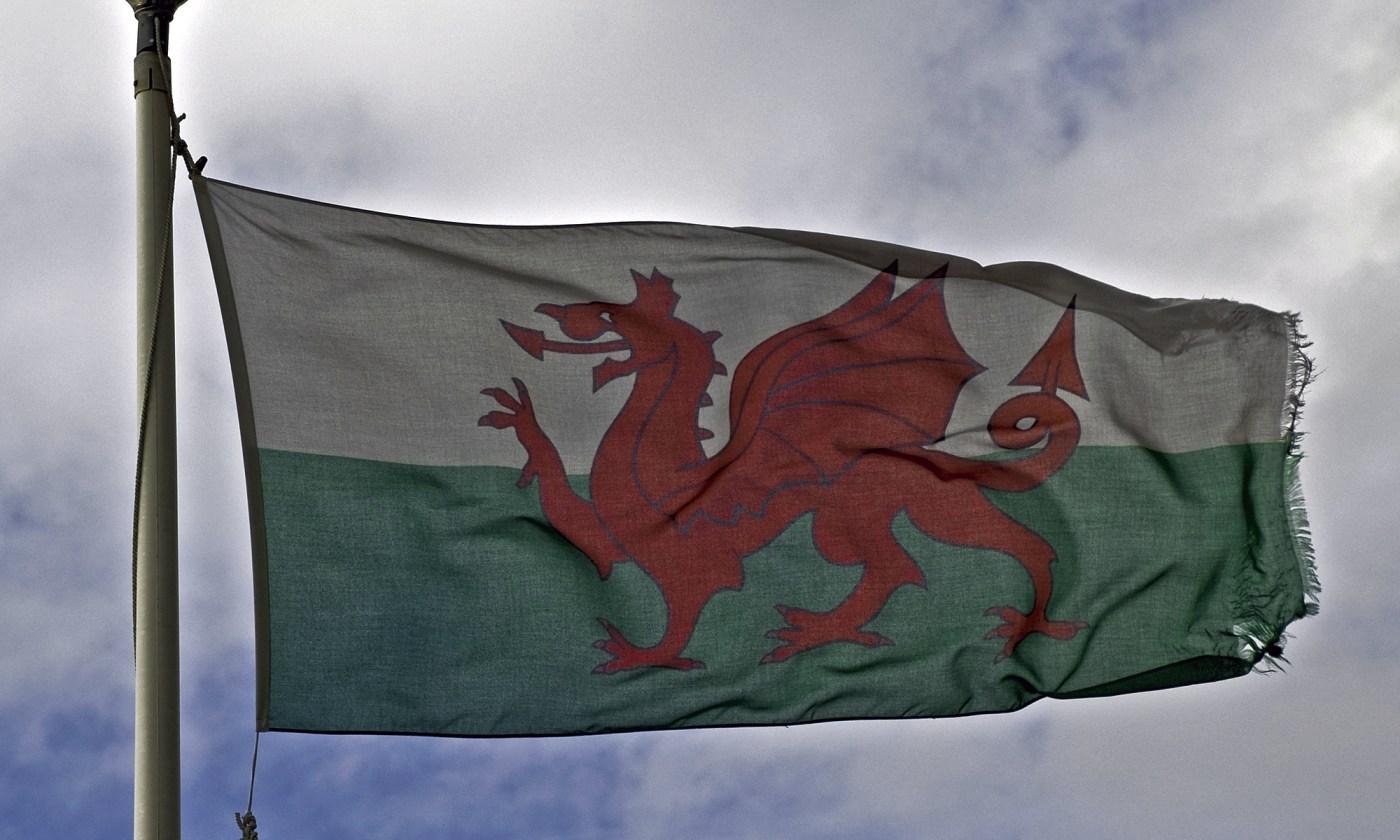 Welsh Dragon on Flag