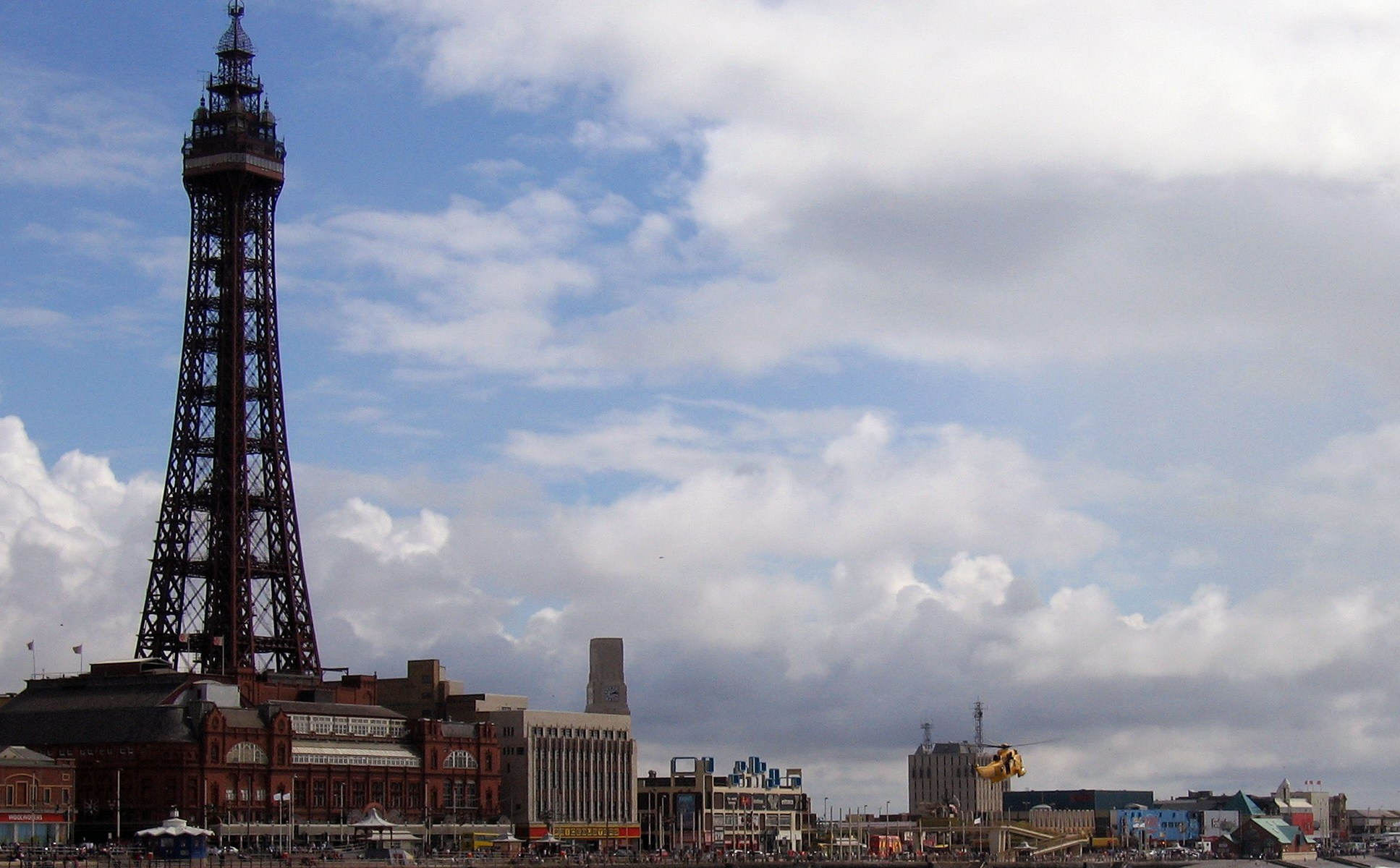 Blackpool Tower view from North Pier - High Tide