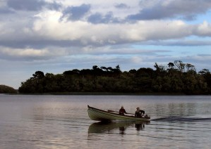 Fishing boat on Lough Corrib, Ireland