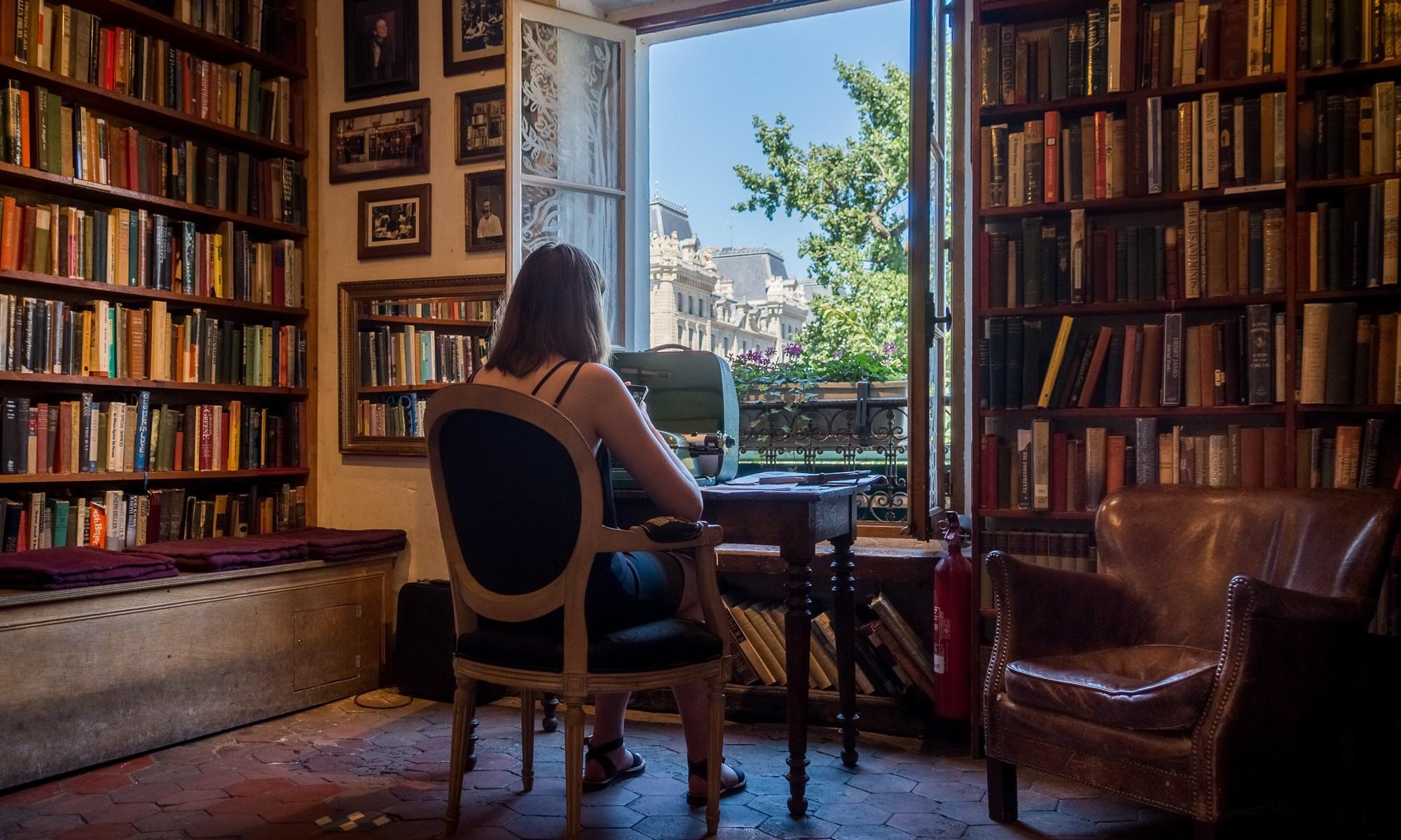 Inside Shakespeare and Company bookshop