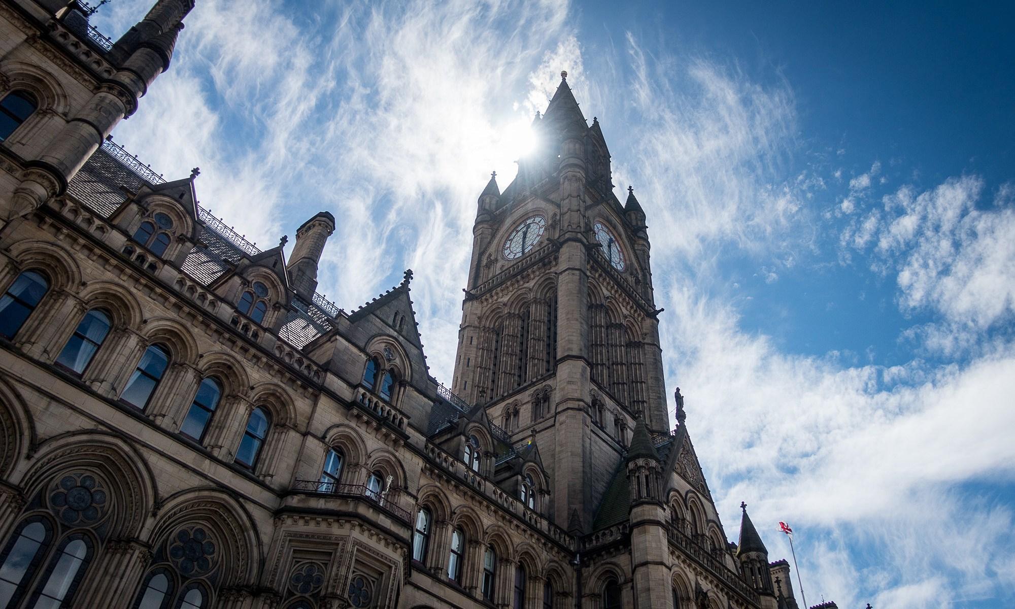 Manchester Town Hall Sun Burst