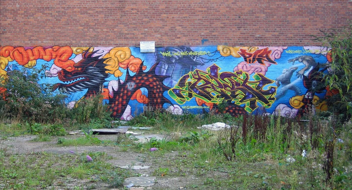 Manchester Graffiti - near Oxford Road Station