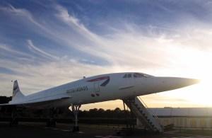 Sun setting on Concorde