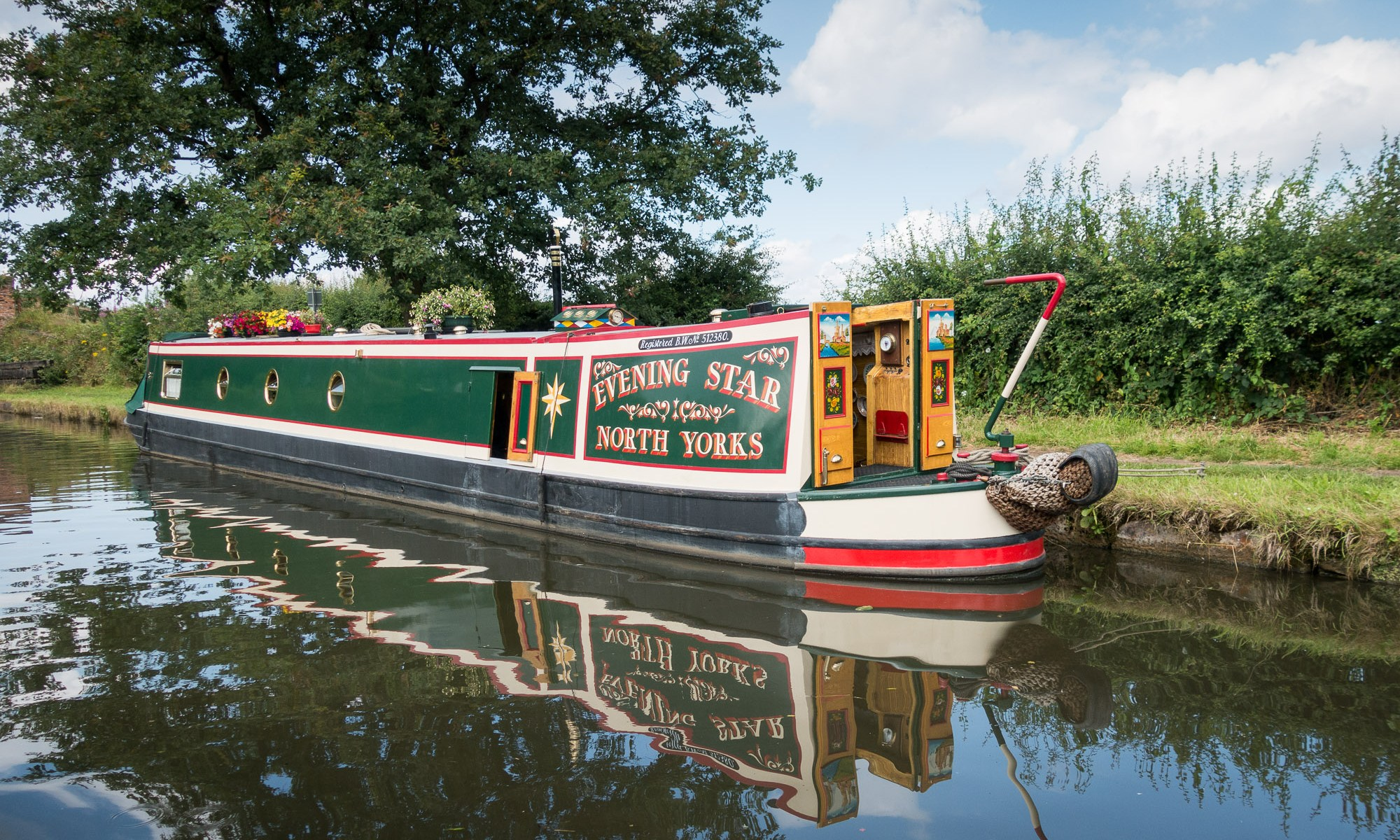 Narrowboat on the bridgewater canal