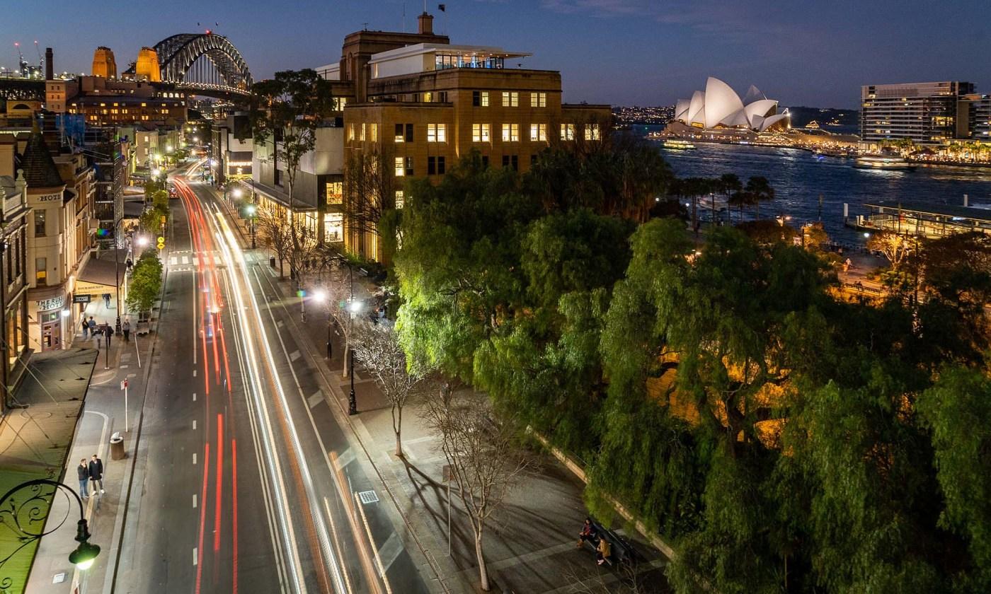 The Rocks, Sydney at night