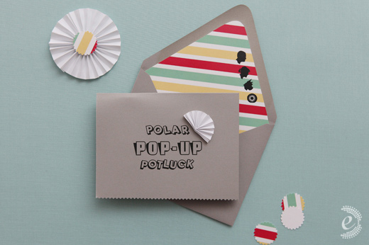 Paper Pop Up Baby Shower Invitations