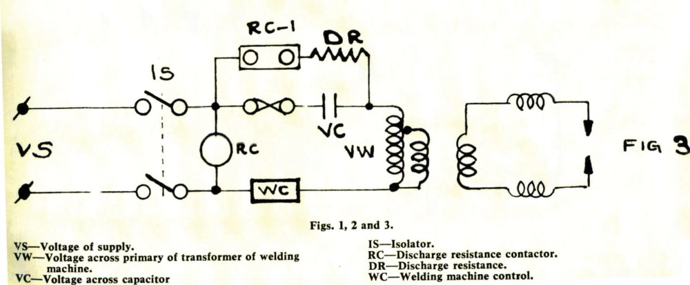 medium resolution of 3 how the circuit of an existing welding machine can be rearranged to apply a series capacitor