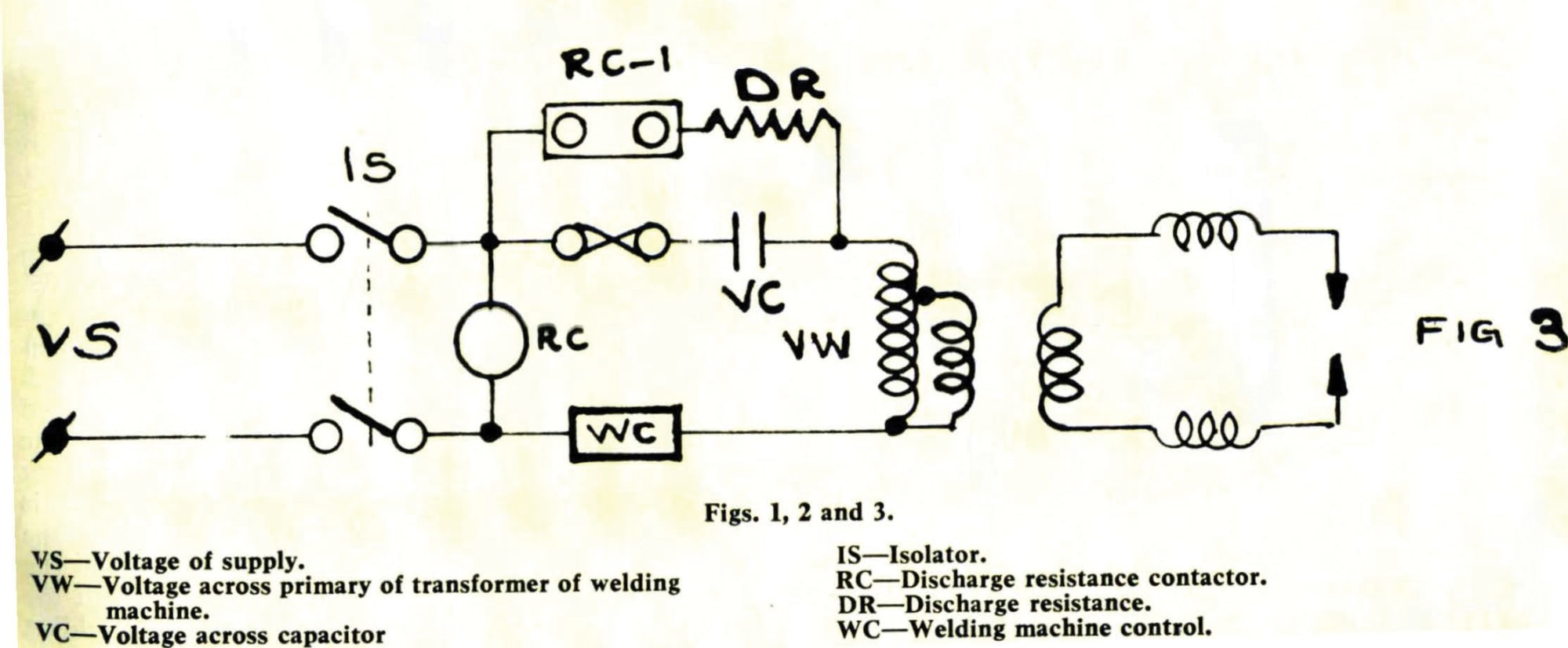 hight resolution of 3 how the circuit of an existing welding machine can be rearranged to apply a series capacitor