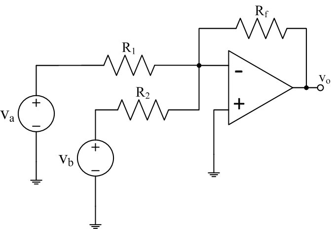 Solved: For The Inverting, Summing Amplifier Shown In Figu