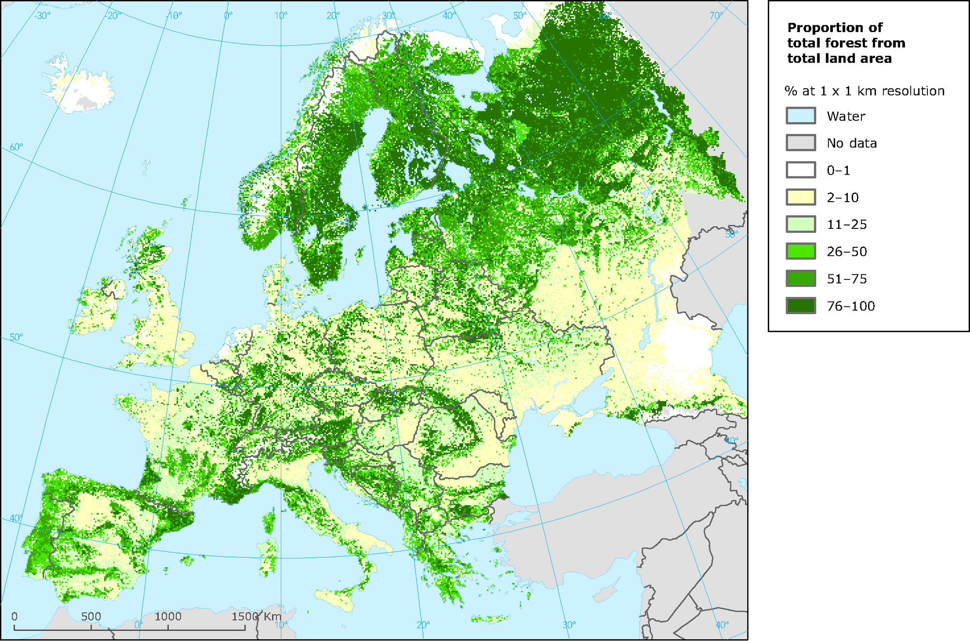 This post has been updated. Forest Map Of Europe European Environment Agency