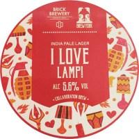 Buy Brick Brewery I Love Lamp! 94.00   Buy Beer online ...