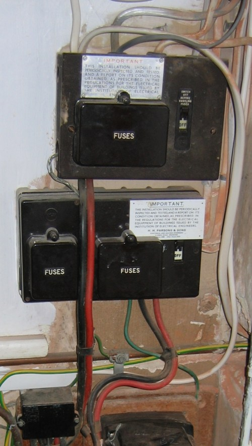 small resolution of abuse of the bs3036 fusebox tails over 2nd box prevent inspection