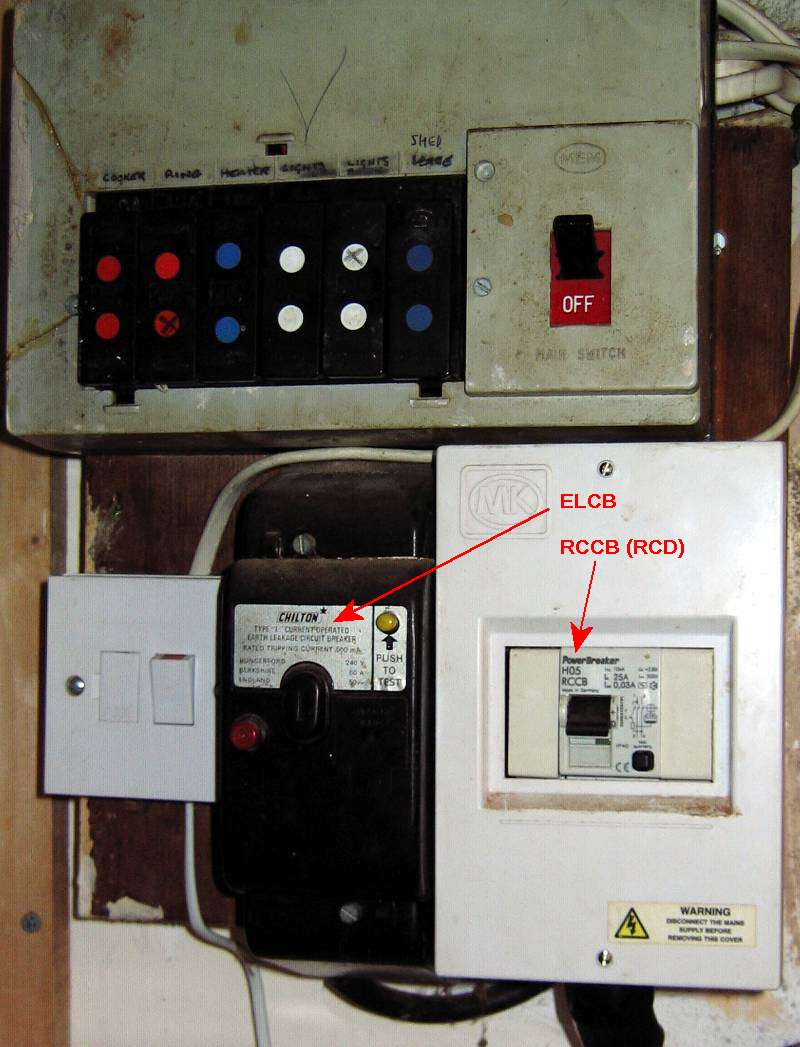 caravan consumer unit wiring diagram 1972 chevelle rcd fuse box library an elcb was early type of earth fault protection