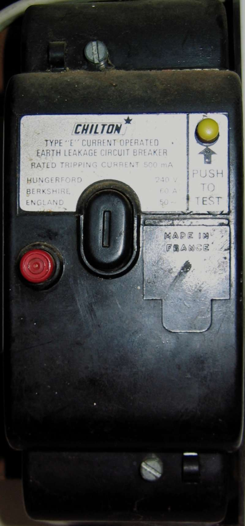 hight resolution of closeup of an elcb