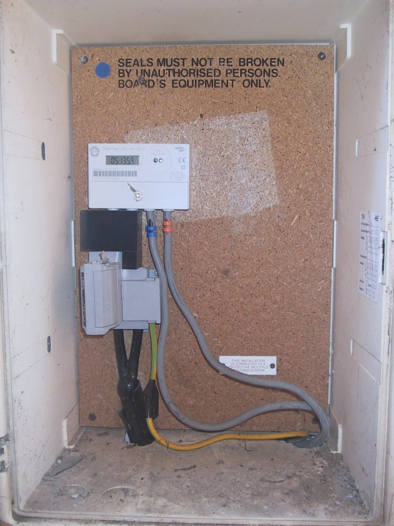 medium resolution of inside the cupboard the incoming supply main fuse and digital meter