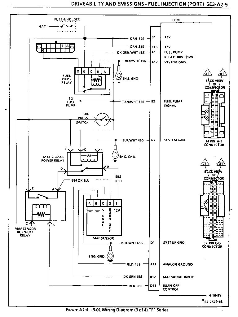 medium resolution of  ecm wiring maf diagram