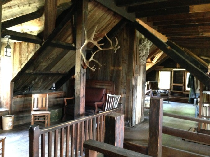 Additional photo: Antlers and bust at the top of the stairs