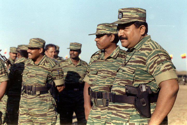 LTTE leader V. Pirapaharan with leaders
