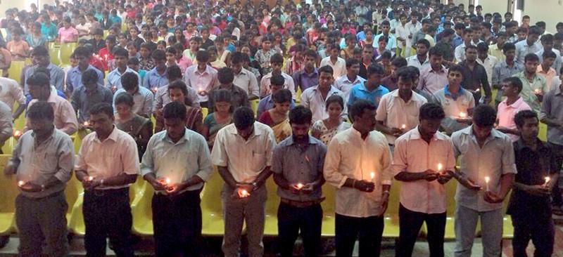 Students at University of Jaffna commemorate Mullivaikkal massacre 5 years