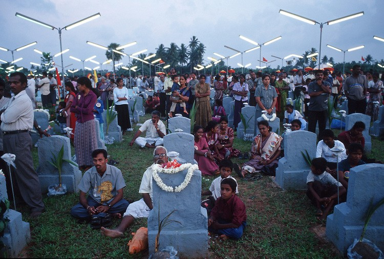 Scenes from an LTTE - Tamil Tigers - Martyrs Day ceremony at a cemetery near Jaffna in Northern Sri Lanka.