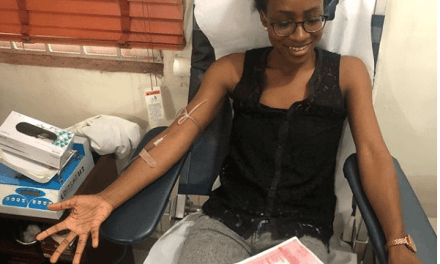 Ex-BBNaija Housemate Anto Donates Blood to Victims of Lagos Collapsed Building
