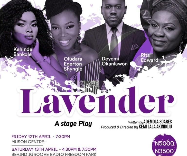 Lala Akindoju New Play 'Lavender' To Show During Lagos Theatre Festival