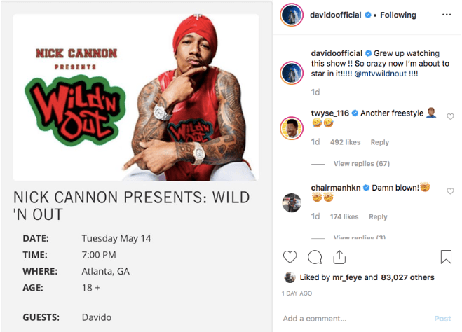 """Davido Set to Appear on Nick Cannon's """"Wild 'N Out"""""""