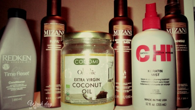 2015.07.10  wash day relaxed hair (EEMSDIARY)