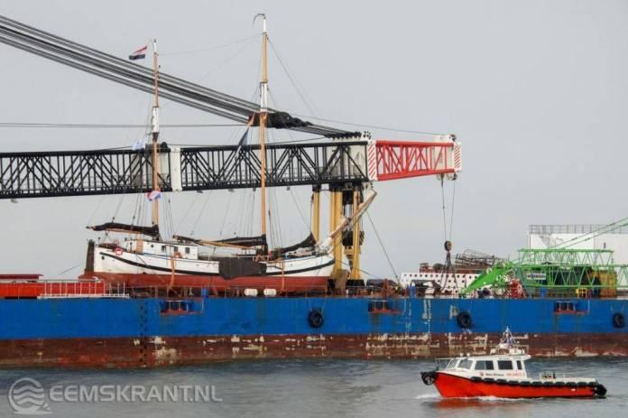 Vlaggenschip provincie Groningen de Voorwaarts Voorwaarts terug in Groningen