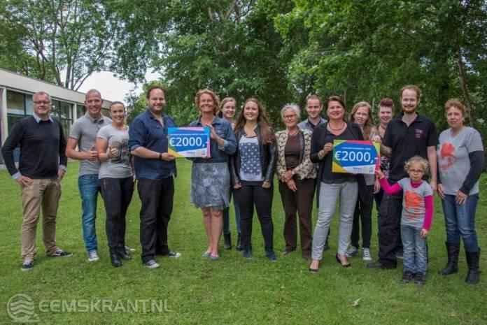 Rotary Club Eems Dollard geeft donatie van 2000 euro aan Lutje Grut en Kriebeldam
