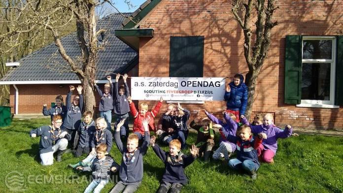 Open dag bij Scouting Fivelgroep Delfzijl op 9 april