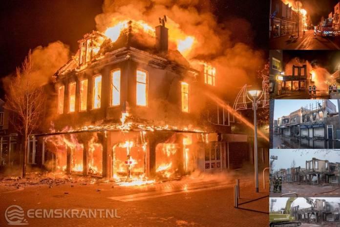 Tijdlijn: Grote brand in centrum Delfzijl