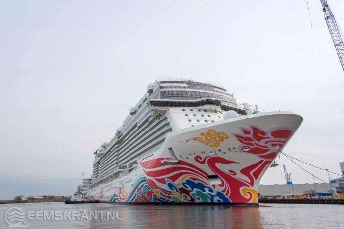 Cruiseschip Norwegian Joy komt vanavond aan bij de Eemshaven