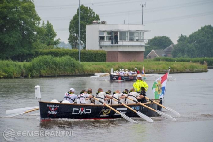 Dutch Marines Rowing Challenge aangekomen in de haven van Delfzijl