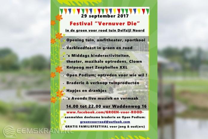 Festival Vernuver Die op 29 september zoekt nog deelnemers