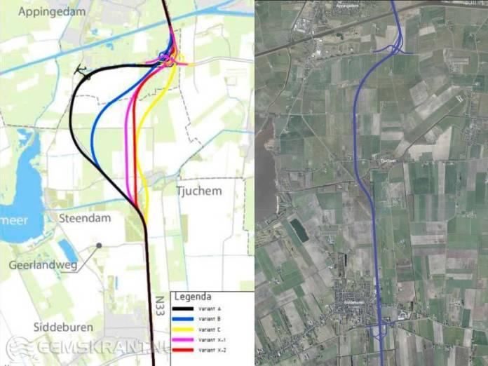 Alternatief inwoners heeft voorkeur provincie en Rijk bij verdubbeling N33 Midden