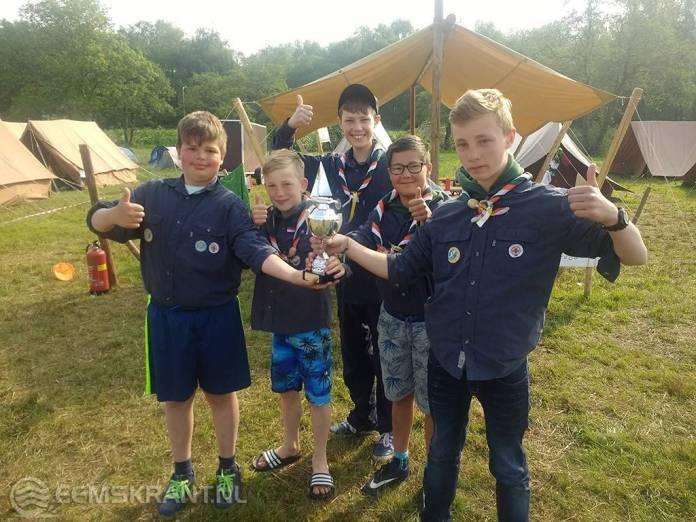Waterscouts Fivelgroep Delfzijl behalen 1e plaats regionale zeilwedstrijden