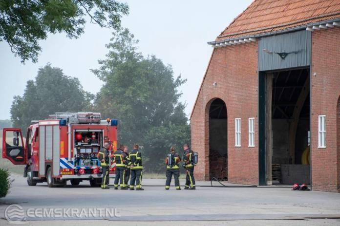 Brand in landbouwschuur aan de Johannes Kerkhovenpolder bij Woldendorp