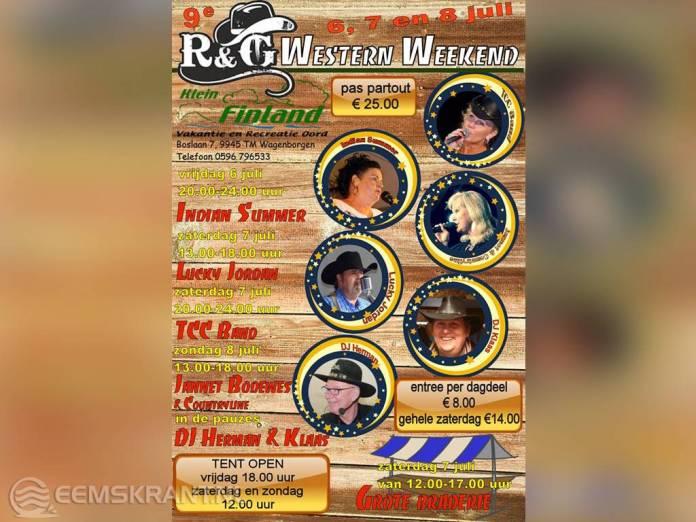 Negende editie R&G Western weekend in Wagenborgen