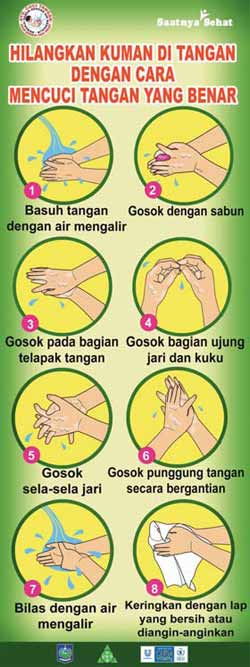 Hand washing campaign poster