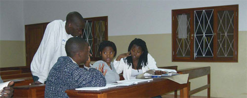 Students on the inclusive education course