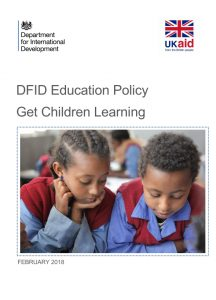 Front cover of DFID policy document