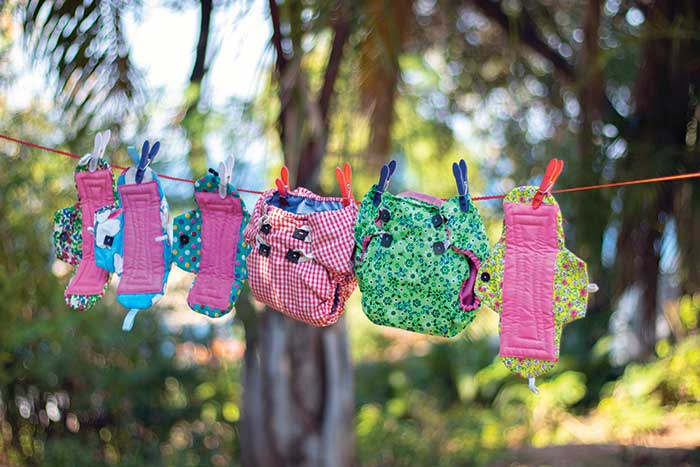 Sanitary products made by mothers
